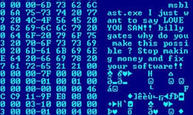 MSBlast - Топ-10 интересных фактов про компьютерные вирусы