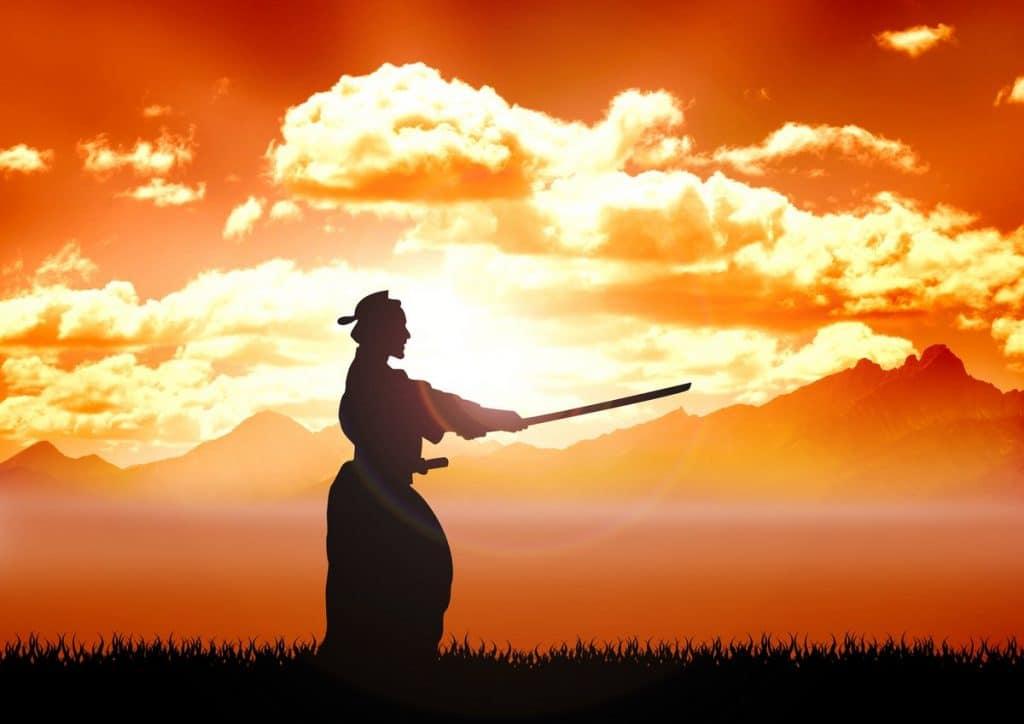 40755 fondovaja illjustracija kendo obuchenie 28x20 sm na bumage 1024x724 - 20 интересных фактов о самураях