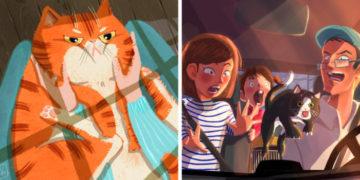 aeszrxdtcfyjgvukhiljl 700x366 360x180 - 20 работ итальянской художницы, чьи рисунки котиков — это волшебство и пушистость в одном флаконе