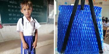 2 25 700x366 360x180 - Папа из Камбоджи решил сделать рюкзак для сына своими руками. Получилось круто, а главное — душевно