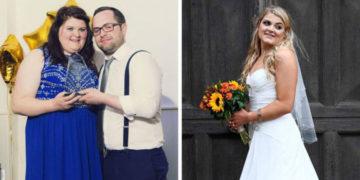 fvafyav 700x366 360x180 - Невеста хотела выглядеть красиво на своей свадьбе. 4 месяца и 30 килограммов спустя её не узнать!
