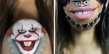 yvapyvpvyp 700x366 360x180 - Эта девушка с помощью макияжа превращает свои губы в мультяшных героев. Получается очень забавно