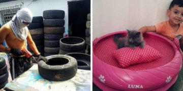 yvayaya 700x366 360x180 - Бразилец подбирает старые грязные шины и делает из них уютные лежанки для домашних животных