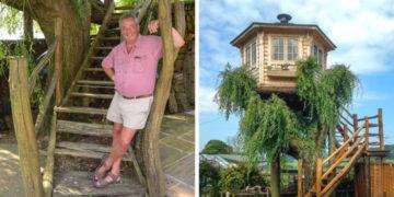yvfayyapvchrasoprlb 700x366 360x180 - Британец хотел спилить дерево, но вид оттуда оказался так хорош, что он построил на нём домик