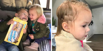 1570541210 c4ca4238a0b923820dcc509a6f75849b 700x366 360x180 - Трёхлетний мальчик подстриг младшую сестру, но она не в обиде. Её причёске теперь завидует даже мама
