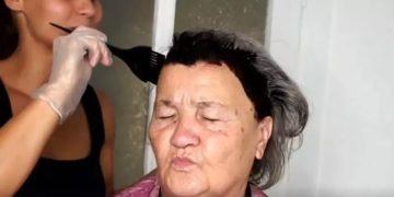 1 864 360x180 - Стилист взяла краску для волос, ножницы, палетку с тенями и невероятно преобразила 80-летнюю бабушку, вернув ей молодость и красоту